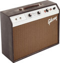 Musical Instruments:Amplifiers, PA, & Effects, 1964 Gibson GA-5T Brown Guitar Amplifier, Serial # 411208....