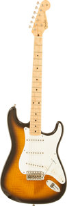Musical Instruments:Electric Guitars, 1996 Fender Custom Shop '54 Re-Issue FMT Stratocaster Sunburst Solid Body Electric Guitar, Serial # CN404041....