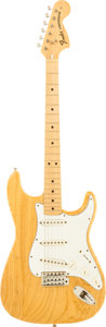 Musical Instruments:Electric Guitars, 1975 Fender Stratocaster Natural Solid Body Electric Guitar, Serial# 526786....