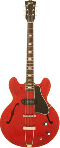 Musical Instruments:Electric Guitars, 1962 Gibson ES-330 Cherry Semi-Hollow Body Electric Guitar, Serial# 76904....