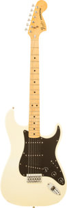 Musical Instruments:Electric Guitars, 1980 Fender Hardtail Stratocaster Olympic White Solid Body Electric Guitar, Serial # S957187....