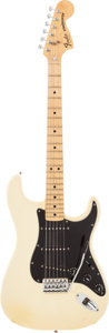 Musical Instruments:Electric Guitars, 1979 Fender Stratocaster Olympic White Solid Body Electric Guitar,Serial # S904452....