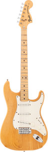 Musical Instruments:Electric Guitars, 1974 Fender Stratocaster Natural Solid Body Electric Guitar, Serial# 571278....
