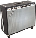 Musical Instruments:Amplifiers, PA, & Effects, 1972 Fender Twin Reverb Black Guitar Amplifier, Serial # A40456....