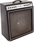 Musical Instruments:Amplifiers, PA, & Effects, 1967 Ampeg Gemini II Black Guitar Amplifier....