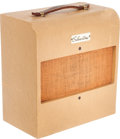 Musical Instruments:Amplifiers, PA, & Effects, 1956 Silvertone Model 1330 Tan Guitar Amplifier, Serial # 185804....