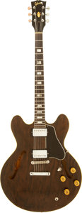Musical Instruments:Electric Guitars, Circa 1970 Gibson ES-335 Walnut Semi-Hollow Body ElectricGuitar....