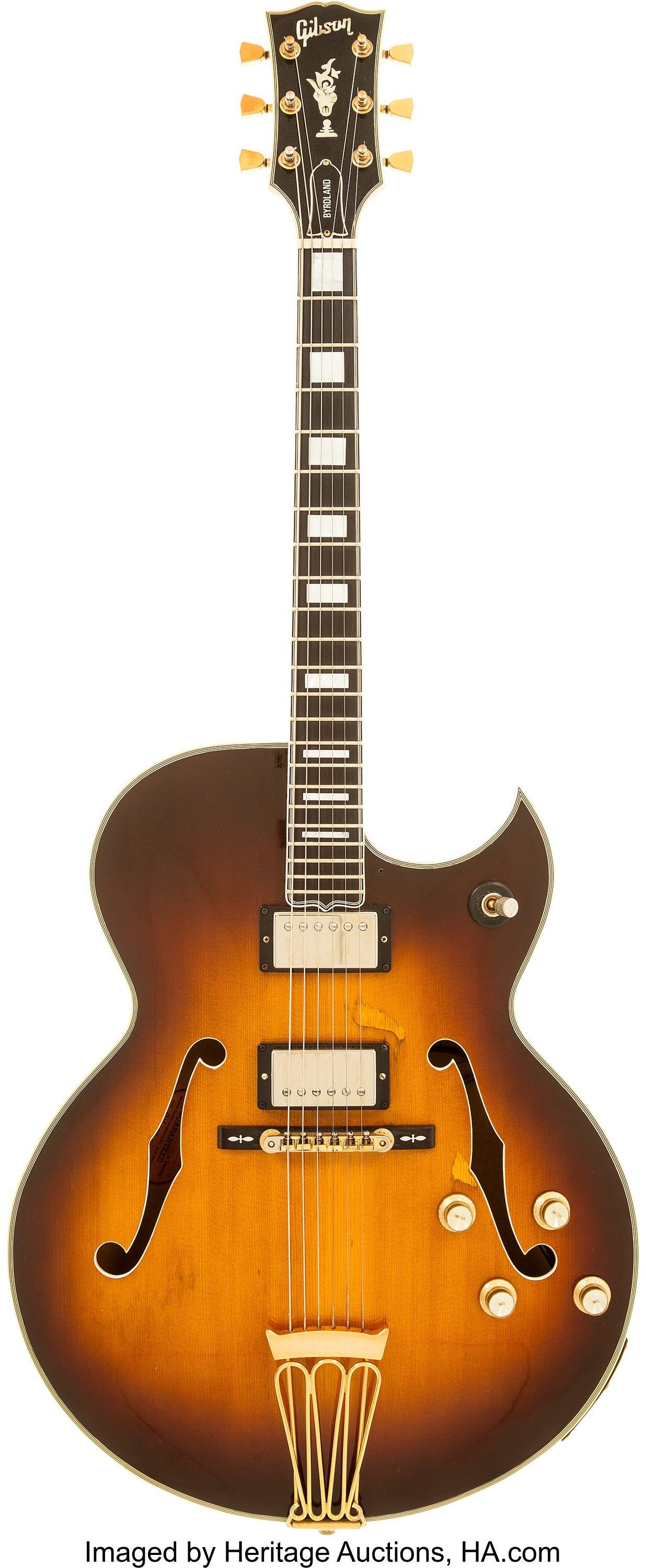 ted nugent 39 s 1968 gibson byrdland semi hollow body electric guitar lot 85043 heritage auctions. Black Bedroom Furniture Sets. Home Design Ideas