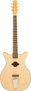 Musical Instruments:Acoustic Guitars, 1960's Danelectro Convertible Natural Acoustic Guitar....