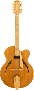 Musical Instruments:Electric Guitars, 1995 Flanders Executive Natural Archtop Electric Guitar, Serial # 41....