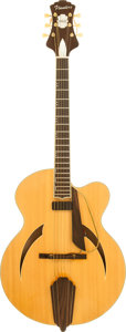 Musical Instruments:Electric Guitars, 1995 Flanders Soloist Natural Archtop Electric Guitar, Serial # 4495....