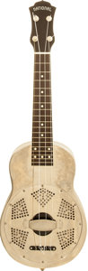 Musical Instruments:Banjos, Mandolins, & Ukes, 2000's National Resophonic Nickel Resonator Ukulele, Serial #456....