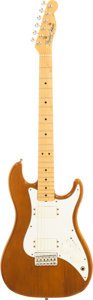 Musical Instruments:Electric Guitars, 1982 Fender USA Bullet Mocha Solid Body Electric Guitar, Serial #E113533....