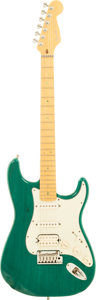 Musical Instruments:Electric Guitars, 1998 Fender Stratocaster Teal Solid Body Electric Guitar,#DN820946....