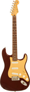 Musical Instruments:Electric Guitars, 2001 Fender Custom Shop Classic Player Stratocaster Burgundy SolidBody Electric Guitar, Serial # CN94839....