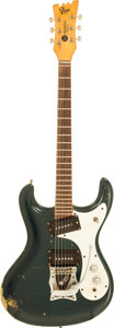 Musical Instruments:Electric Guitars, 1965 Mosrite Ventures Blue Metallic Solid Body Electric Guitar....