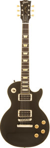 Musical Instruments:Electric Guitars, 2008 Gibson Les Paul Classic Black Solid Body Electric Guitar,Serial # 080053....