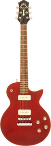 Musical Instruments:Electric Guitars, 2001 Guild Bluesbird Cherry Solid Body Electric Guitar, Serial #CL002514....