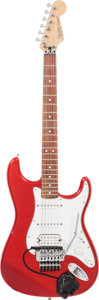 Musical Instruments:Electric Guitars, 1998 Fender Stratocaster Red Solid Body Electric Guitar, Serial #MZ8021495....