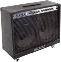 Musical Instruments:Amplifiers, PA, & Effects, 1990 Peavey Duel 212 Black Guitar Amplifier, Serial # 07501750....