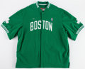 Basketball Collectibles:Uniforms, 2003-04 Raef LaFrentz Game Worn Boston Celtics Warmup Jacket....