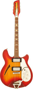 Musical Instruments:Electric Guitars, Early 1970's Salem Ric Copy Fireglo Semi-Hollow Body ElectricGuitar, Serial # 2168823. ...