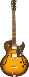 Musical Instruments:Electric Guitars, 2001 Gibson ES-135 Sunburst Semi-Hollow Body Electric Guitar,Serial # 02981473....