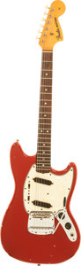 Musical Instruments:Electric Guitars, 1966 Fender Mustang Red Solid Body Electric Guitar, Serial #141272....