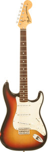 Musical Instruments:Electric Guitars, 1974 Fender Hardtail Stratocaster Sunburst Solid Body Electric Guitar, Serial # 559319....