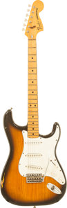 Musical Instruments:Electric Guitars, 1979 Fender Stratocaster Sunburst Solid Body Electric Guitar,Serial # S953089....