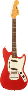Musical Instruments:Electric Guitars, 1965 Fender Mustang Red Solid Body Electric Guitar, Serial #L83517....