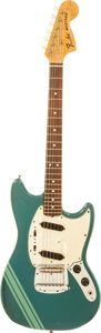 Musical Instruments:Electric Guitars, 1973 Fender Mustang Competition Blue Solid Body Electric Guitar,Serial # 386267....