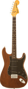Musical Instruments:Electric Guitars, 1978 Fender Statocaster Hardtail Mocha Solid Body Electric Guitar,Serial # S904156....