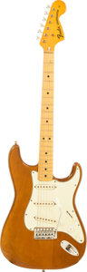 Musical Instruments:Electric Guitars, 1974 Fender Stratocaster Mocha Solid Body Electric Guitar, Serial #528205....
