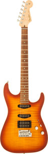 Musical Instruments:Electric Guitars, 2000 Fender Showmaster FMT Sunburst Solid Body Electric Guitar,Serial # 1202....
