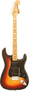 Musical Instruments:Electric Guitars, 1978 Fender Stratocaster Sunburst Solid Body Electric Guitar,Serial # S788538....