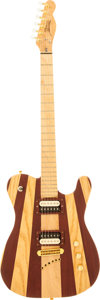 Musical Instruments:Electric Guitars, 2001 Garside Natural Solid Body Electric Guitar, Serial #GC082001....