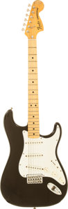 Musical Instruments:Electric Guitars, 1981 Fender Hardtail Stratocaster Black Solid Body Electric Guitar,Serial # S978751....