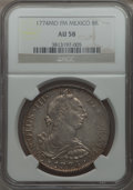 Mexico, Mexico: Charles III 8 Reales 1774 Mo-FM AU58 NGC,...