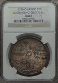 Mexico, Mexico: Republic 2 Pesos 1921-Mo MS65 NGC,...
