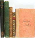Books:Literature Pre-1900, [Literature]. Group of Five Poetry Books. Various publishers anddates.... (Total: 5 Items)