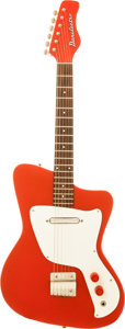 Musical Instruments:Electric Guitars, Circa 1968 Danelectro Red Solid Body Electric Guitar....