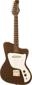 Musical Instruments:Electric Guitars, Circa 1968 Danelectro Dane Brown Solid Body Electric Guitar....