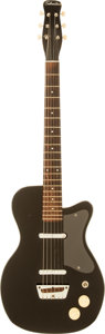 Musical Instruments:Electric Guitars, Circa 1958 Silvertone 1303 Black Solid Body Electric Guitar....