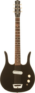 Musical Instruments:Electric Guitars, 1964 Danelectro Guitaralin Black Solid Body Electric Guitar....