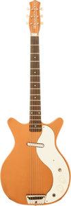 Musical Instruments:Electric Guitars, Circa 1964 Danelectro Model 3612 Copper Solid Body Electric Baritone Guitar....