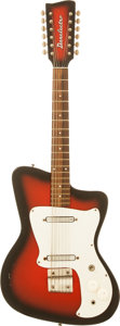 Musical Instruments:Electric Guitars, 1968 Danelectro Hawk Redburst 12-String Solid Body ElectricGuitar....