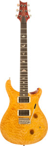 Musical Instruments:Electric Guitars, Ted Nugent's 1987 Paul Reed Smith (PRS) Custom Vintage Yellow SolidBody Electric Guitar, Serial # 7 2493....