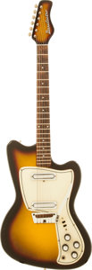 Musical Instruments:Electric Guitars, 1968 Danelectro Slimline Sunburst Solid Body Electric Guitar....