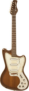 Musical Instruments:Electric Guitars, 1968 Coral Hornet Sunburst Solid Body Electric Guitar....